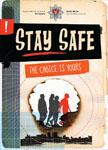 Stay safe booklet cover with circle of four people