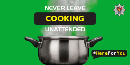 Never leave COOKING unattended